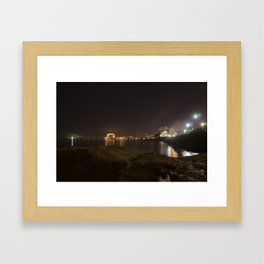 Nightscape of Canal Park Framed Art Print