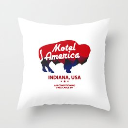 america  motel Throw Pillow