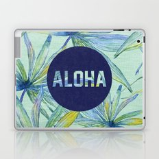 Aloha - blue version Laptop & iPad Skin