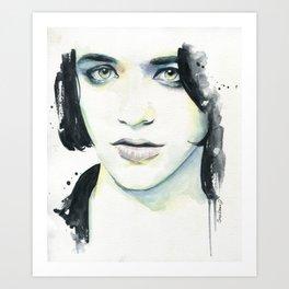 Brian Molko (I know) Art Print