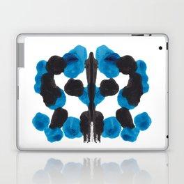 Colorful Blue Turquoise Organic Ink Blot Pattern Laptop & iPad Skin
