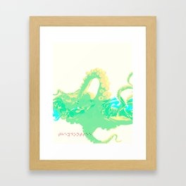 Octopussy Framed Art Print