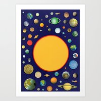 solar system Art Prints featuring Solar System by Ben Giles