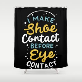 Sneaker collecting Footwear Shoes Eye Contact Shower Curtain
