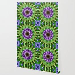 Lavender lotus mandala Wallpaper