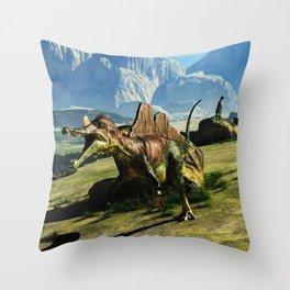 Ichthyovenator Dinosaur Throw Pillow