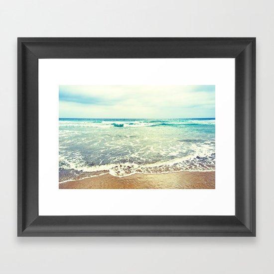 Oh, the sea, the sea... Framed Art Print