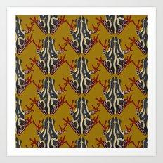 congo tree frog gold Art Print