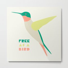 Free Humming Bird Metal Print