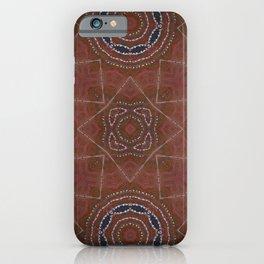 Desert Caravan // Gypsy Bohemian Tribal Native Rust Red Blue Geometric Abstract Design Masculine Men iPhone Case