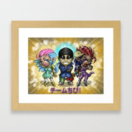 Chibi crew Framed Art Print