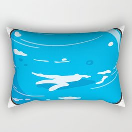 Neptune Icon Rectangular Pillow