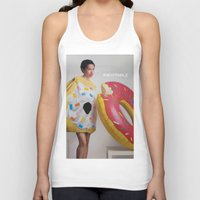 donut Tank Tops featuring Donut by Sally Jane Fuerst