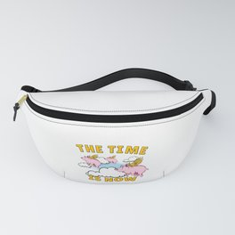 The Time Is Now Flying Pigs Year of the Pig Design Fanny Pack