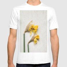 Daffodil 2 Mens Fitted Tee White MEDIUM