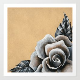 A Rose For My Love Art Print