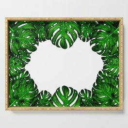 Monstera Deliciosa painting Serving Tray