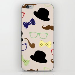 Glasses hats and Mustache iPhone Skin