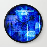 discount Wall Clocks featuring Sapphire Nebulæ by Aaron Carberry