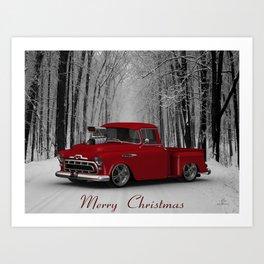 #MerryChristmas 57 3100 Truck by @ernhrtfan Art Print