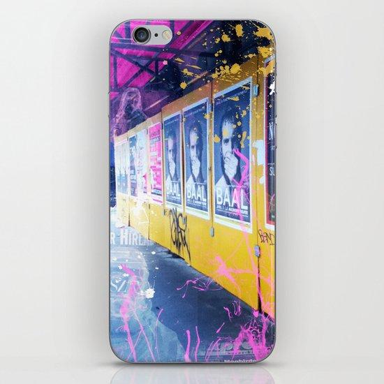 purple and yellow _  little burke graffiti iPhone & iPod Skin