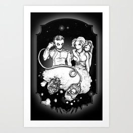 Party at the Phaedrus 5 Galleria - Illustration Art Print
