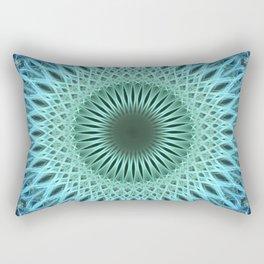 Light blue mandala with a bit of green Rectangular Pillow