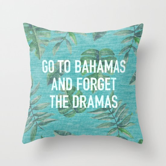 Go to Bahamas Throw Pillow
