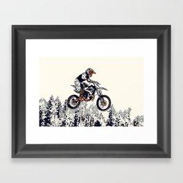 """""""High Flyer"""" Motocross Racer Framed Art Print"""