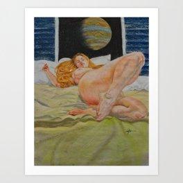Jupiter reposed Art Print