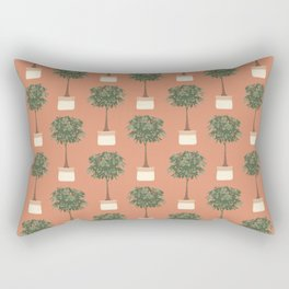 Guinea chestnut in a basket planter Rectangular Pillow