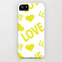 Love Heart Yellow iPhone Case
