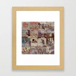 Collage Collage Framed Art Print