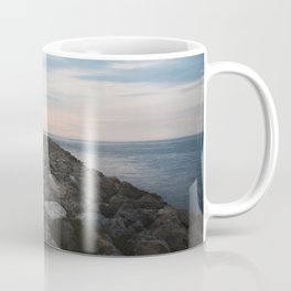 The Jetty at Sunset - Vertical Coffee Mug