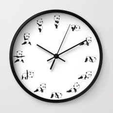 Yoga Bear - Panda Wall Clock