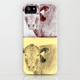 Here's Looking at Moo iPhone Case
