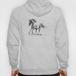 Running Horse Horseback Riding Horse Lover Hoody