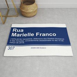 Marielle Franco - Street sign Rio de Janeiro Rug