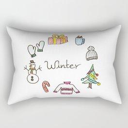 winter feels Rectangular Pillow