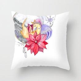 Merry Christmas, Deer Throw Pillow