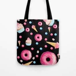Sweet Tooth Collage in Black Tote Bag