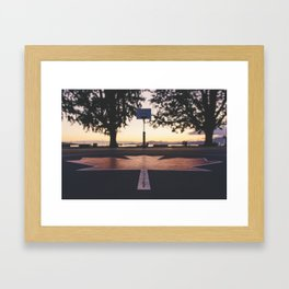 Canadian Bball Sunset Framed Art Print