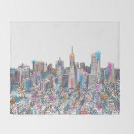 San Francisco Coit view Throw Blanket