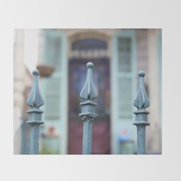 French Quarter Gate Throw Blanket