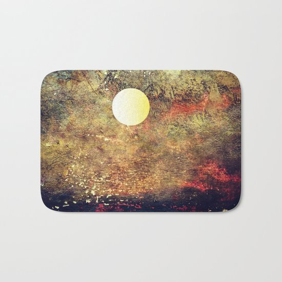 Moon Over The Sea Bath Mat