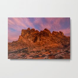 Sunrise Glow - Valley of Fire State Park Metal Print