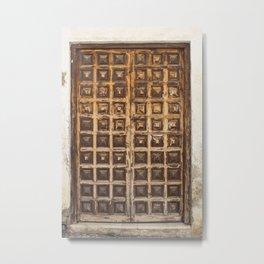 Puerta Malaga Wood Door España Metal Print