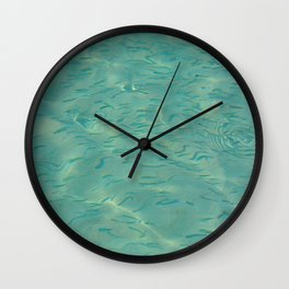 Swimming in the Clear Tropical Water Wall Clock