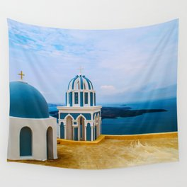 Church with a view Wall Tapestry