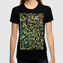Jumbled Text Pattern T-shirt